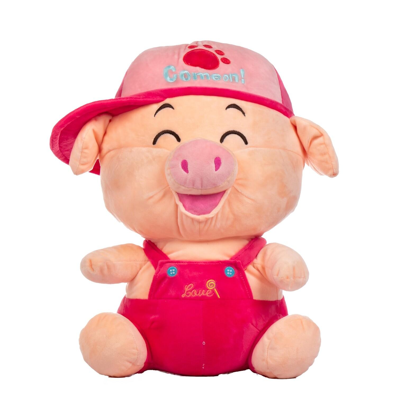 Peluche chanchito rosado en caja de regalo