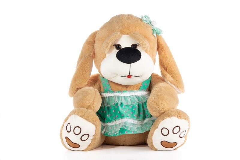 Peluche de perrita Tamaño Grande en caja de regalo