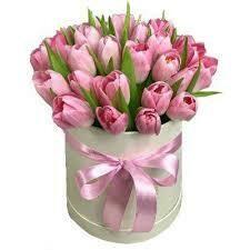 Arreglo de tulipanes Rosados en Sombrerera