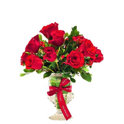 Frida | Rosas en arreglo romántico