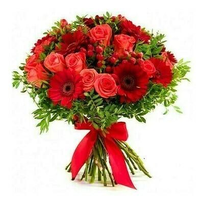 Xinny bouquet de Gerberas y rosas