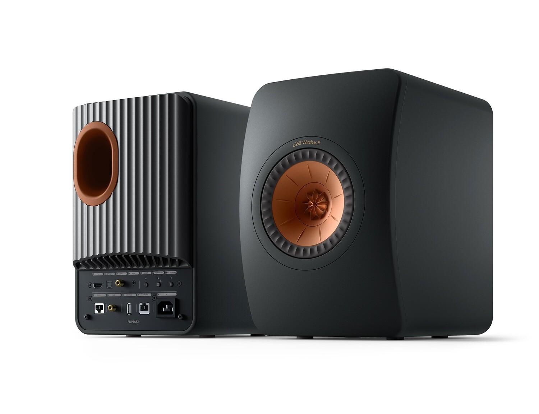 KEF LS50 Wireless II (Carbon Black / Mineral White / Titanium Grey / Crimson Red) - (1 Paar)