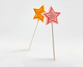 Лолипоп Звезда шоколадная (Клубника)