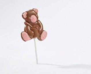 """Лолипоп шоколадный """"Мишка с клубничным шоколадом"""""""
