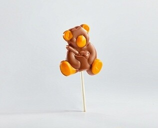 """Лолипоп шоколадный """"Мишка с апельсиновым шоколадом"""""""