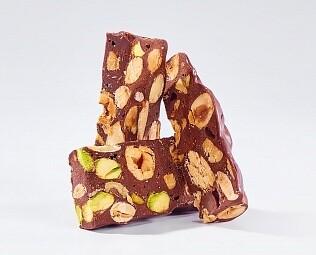 Шоколадная нуга с орехами / 30 грамм