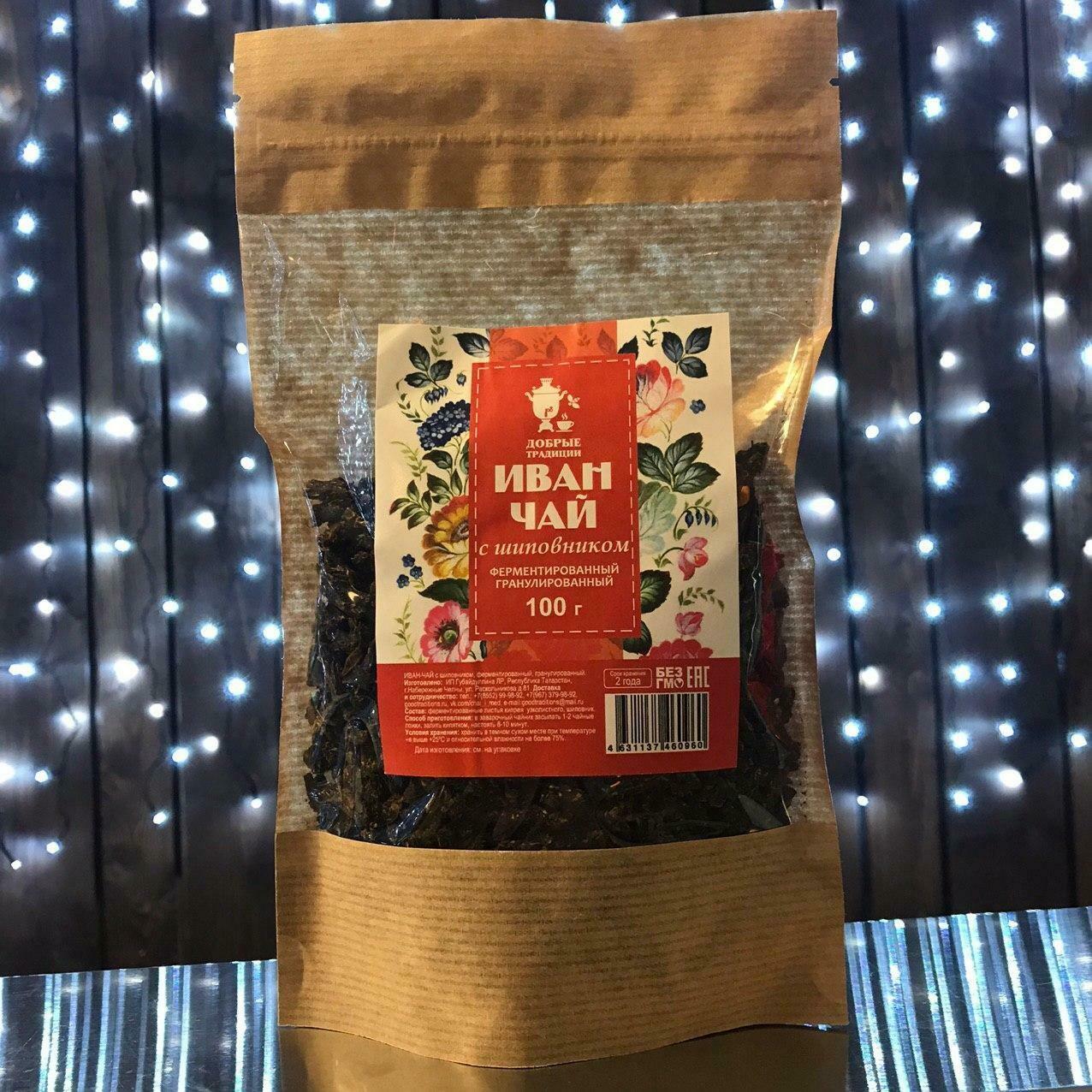 Иван-чай с шиповником гранулированный 100 гр