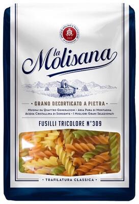 Макаронные изделия La Molisana Fusilli Tricolore (Спиральки с добавлением томатов и шпината) № 309, 500г