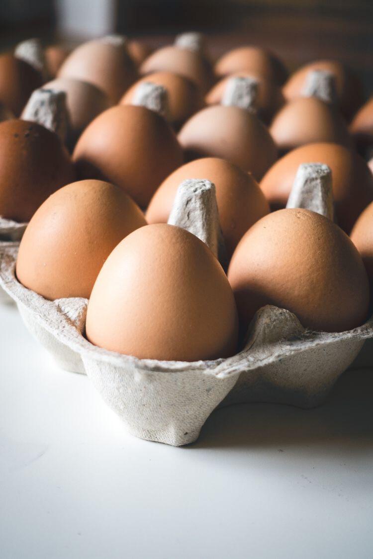 Яйца домашние куриные 10 шт