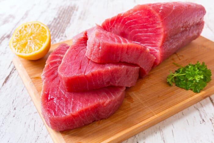 Стейки желтоперого тунца премиум в в/у 500 грамм