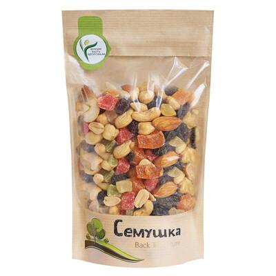 Сладкая смесь жареных орехов с цукатами Семушка (150 гр.)