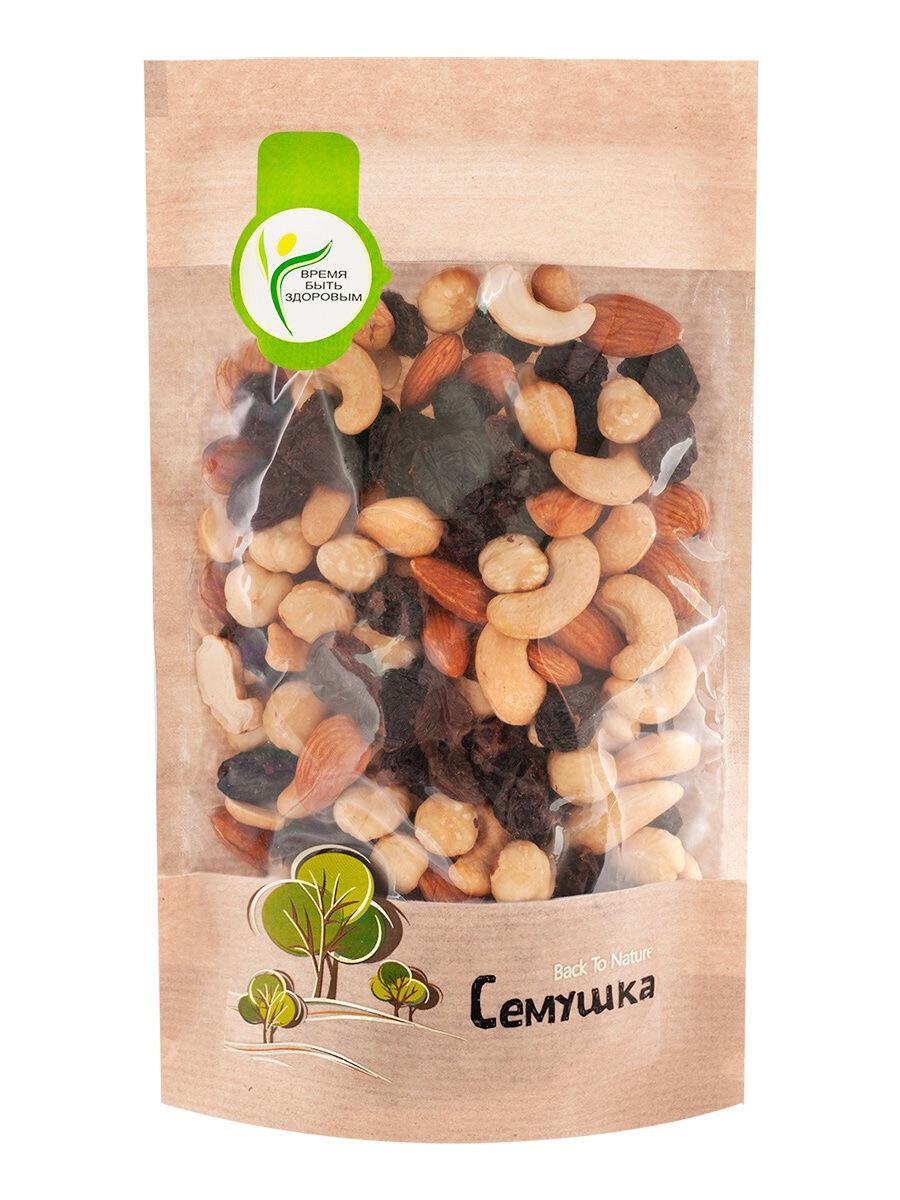 Смесь жареных орехов и изюма Семушка (150 гр.)