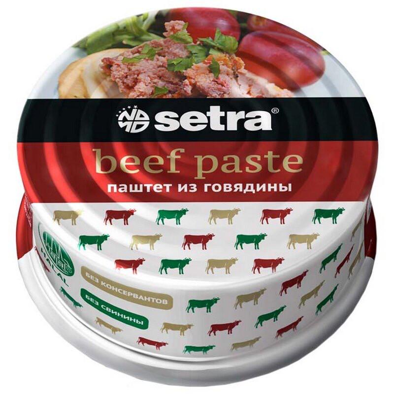 Паштет из говядины Setra, 100 гр.