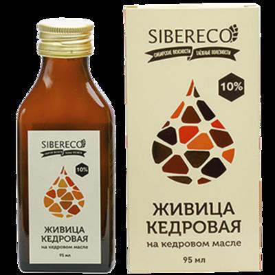 Живица кедровая на кедровом масле Сибереко 95 мл.
