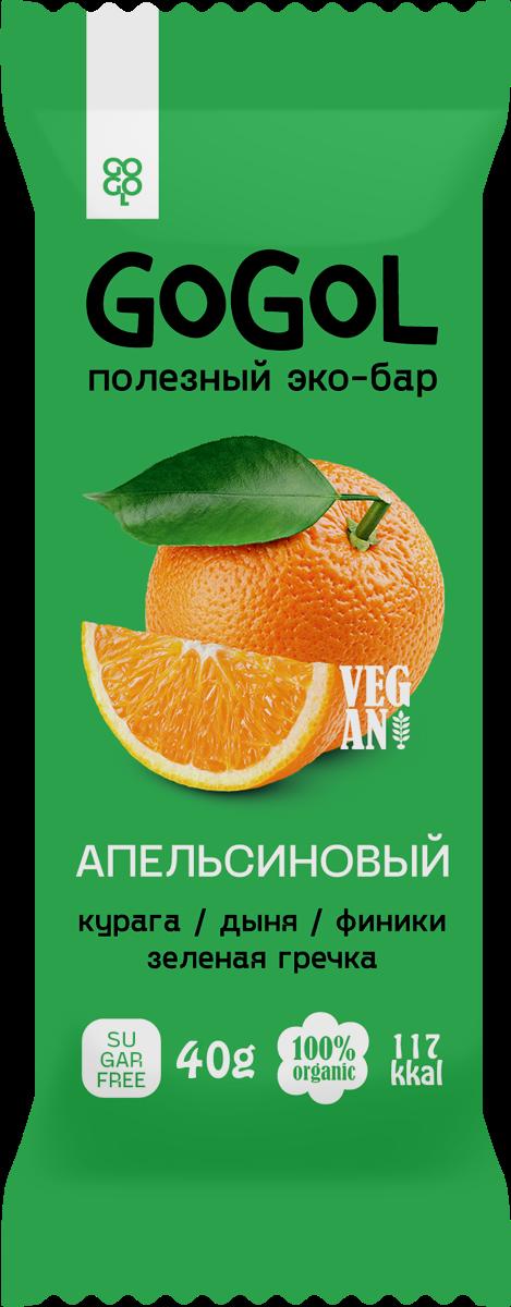 Батончик фруктовый GOGOL АПЕЛЬСИН (40 гр.)