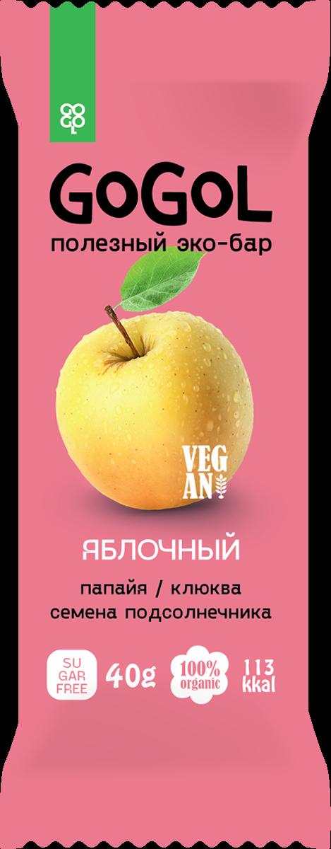 Батончик фруктовый GOGOL ЯБЛОКО (40 гр.)