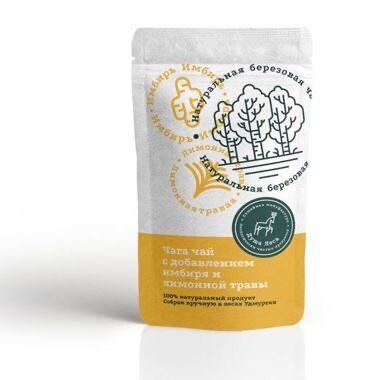 Чага чай с добавлением имбиря и лимонной травы (100 гр.)