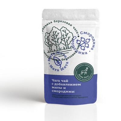 Чага чай с добавлением мяты и смородины (100 гр.)