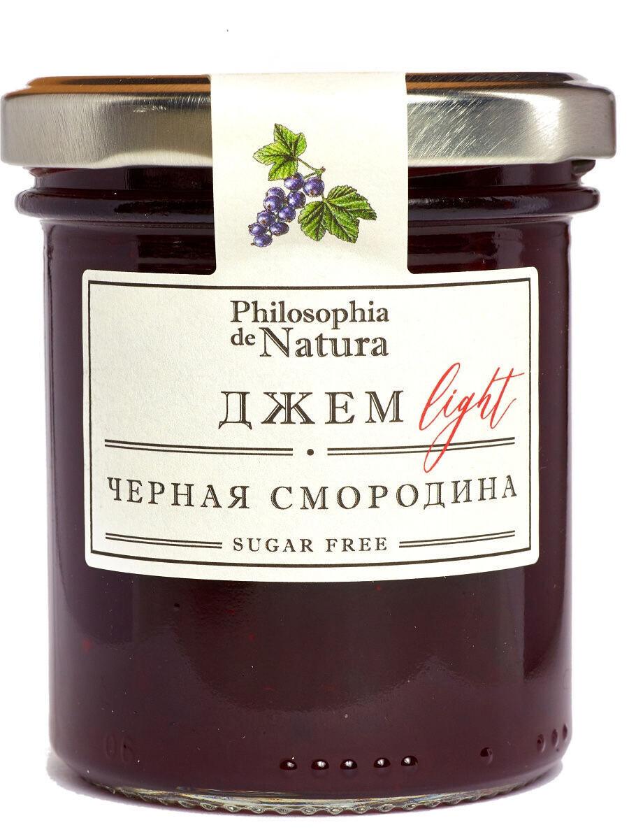 """Джем """"Light"""" Philosophia de Natura (Черная смородина)  / 180гр"""