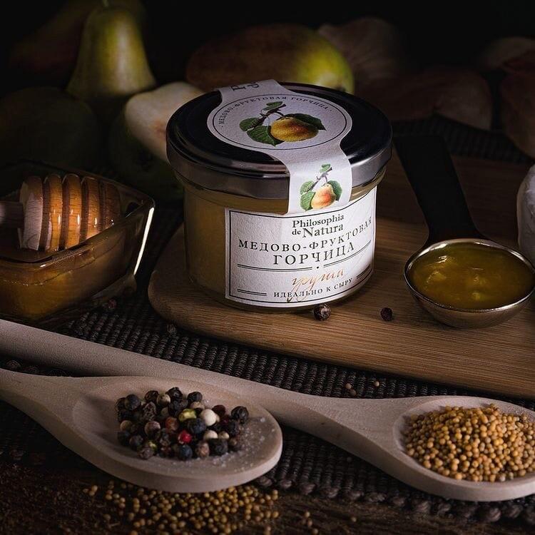 Соус горчичный медово-фруктовый Philosophia de Natura (ГРУША) / 100гр