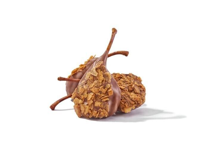 Груша в молочном шоколаде и вафельной крошке / 30 грамм