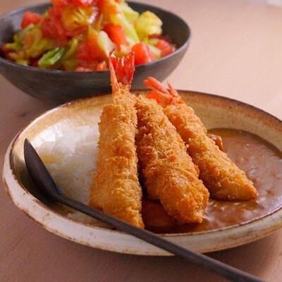 Japanese Ebi Fry Curry Rice エビフカレー