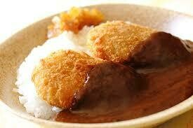 Japanese Potate Croquette Curry Rice コロッケカレー