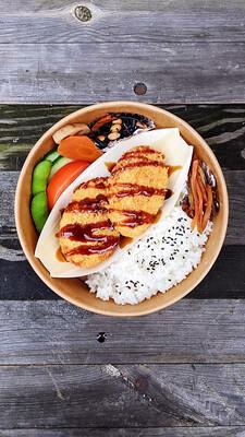 Croquette Bento with Miso soup コロッケ弁 味噌汁