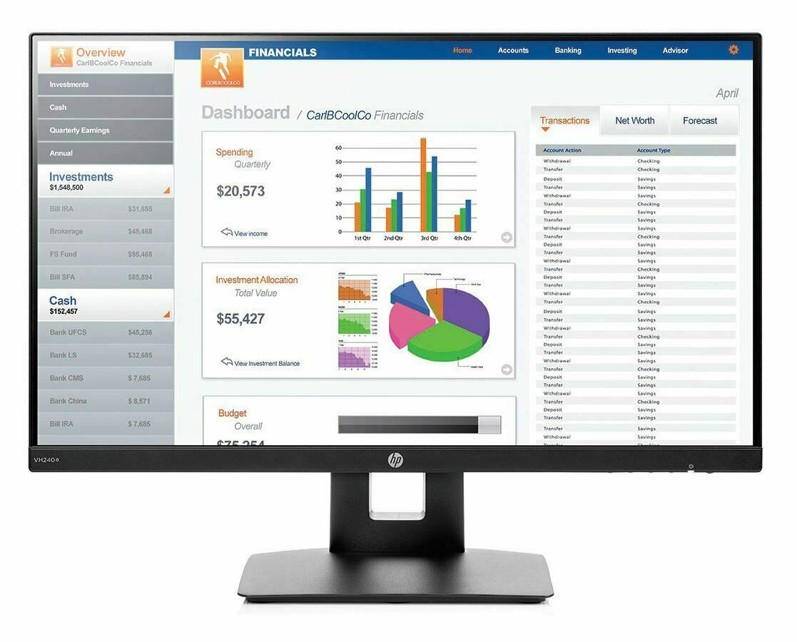 HP VH240a 23.8-inch Monitor