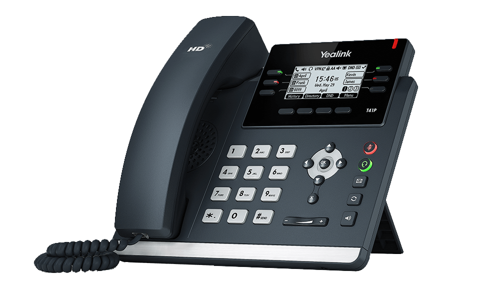 Yealink SIP-T41P Ultra-elegant IP Phone with PoE, without PSU