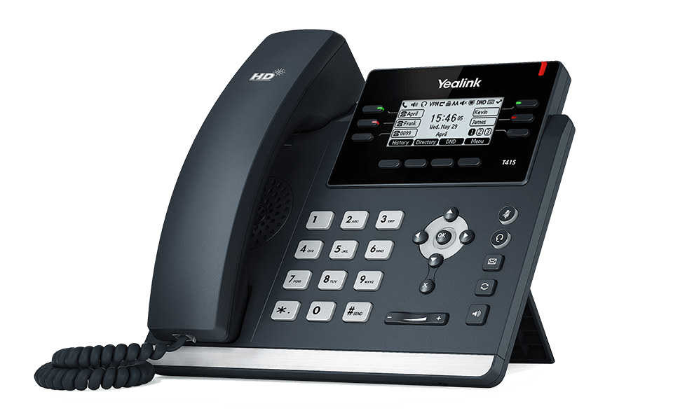 Yealink SIP-T41S Ultra-elegant IP Phone with PoE, without PSU