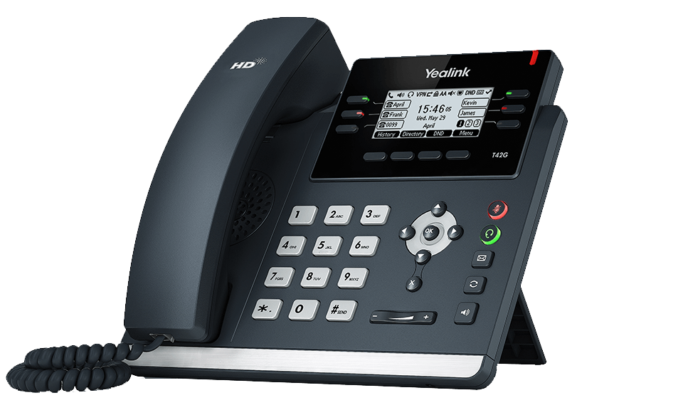 Yealink SIP-T42G Ultra-elegant Gigabit IP Phone with PoE, without PSU
