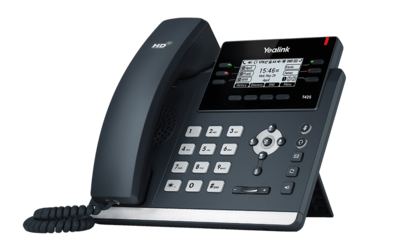 Yealink SIP-T42S Ultra-elegant Gigabit IP Phone with PoE, without PSU