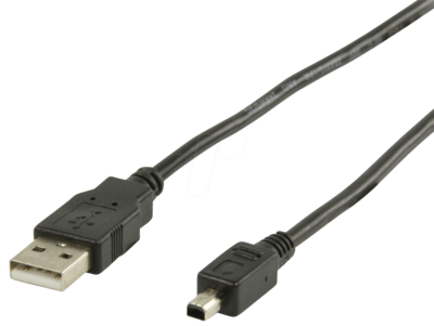 USB 2.0 Mini Cable (Type A To 4pin, Mitsumi, 1.8m)