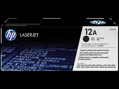 HP 12A Black Original LaserJet Toner Cartridge (Q2612A)