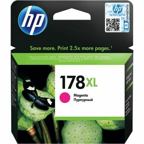 HP 178XL High Yield Magenta Original Ink Cartridge (CB324HE)