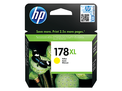 HP 178XL High Yield Yellow Original Ink Cartridge (CB325HE)