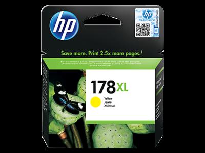 HP 178XL High Yield Yellow Original Ink Cartridge (CB325HE)