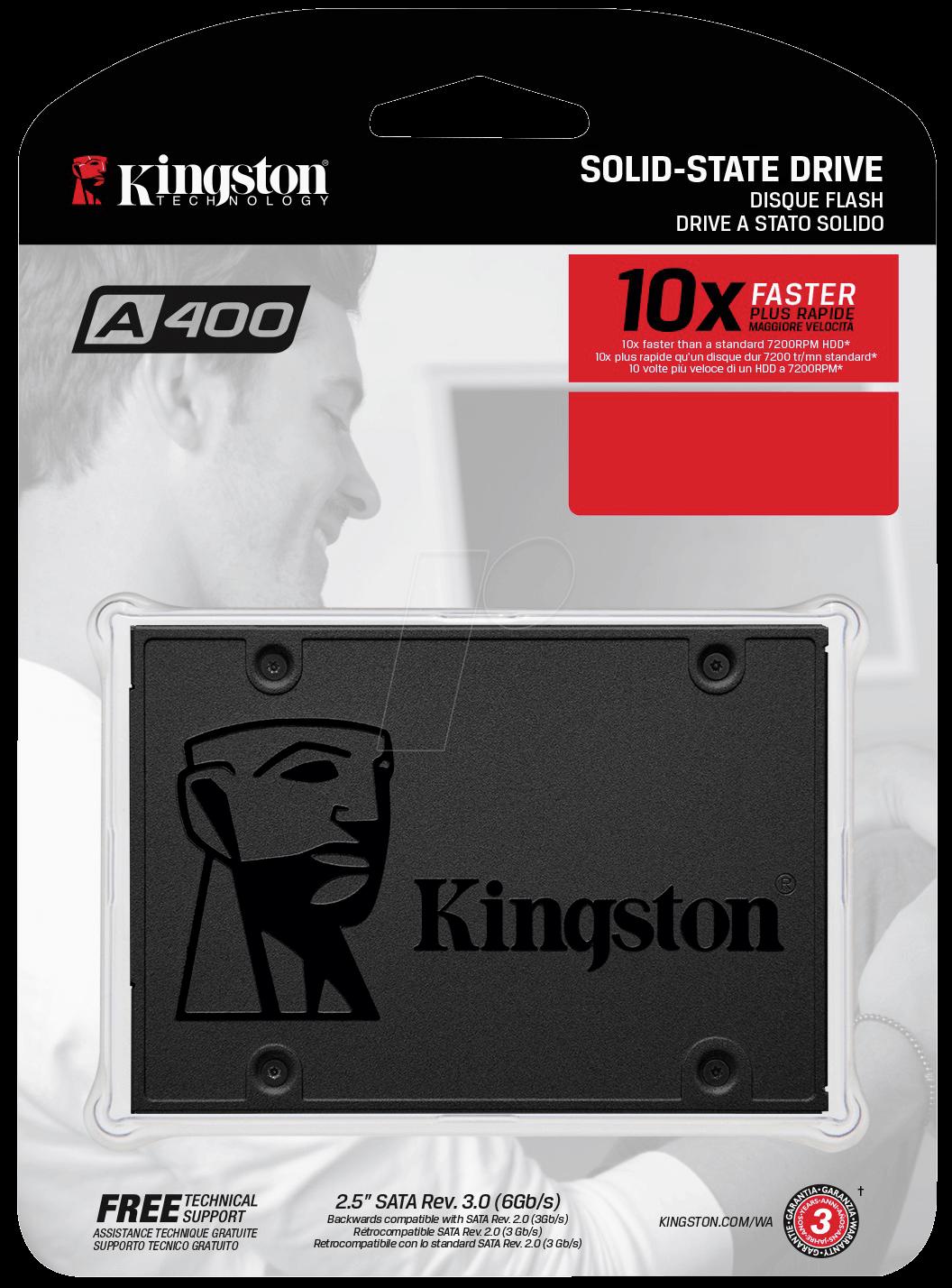 KINGSTON SATA 2.5'' 480GB TLC SSD SA400S37/480G