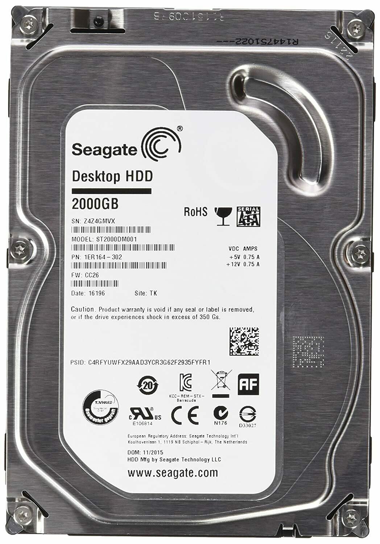 SEAGATE 2TB 64MB SATA III-600