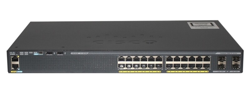 Cisco Catalyst WS-C2960X-24PS-L PoE LAN Base Layer 2 stackable switch