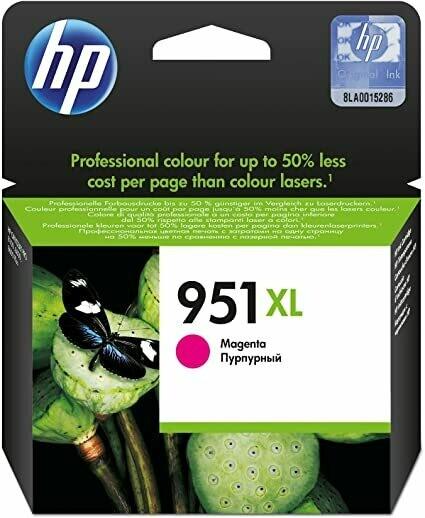 HP 951XL High Yield Magenta Original Ink Cartridge (CN047AE)