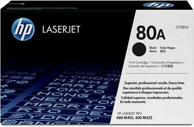 HP 80A Black Original LaserJet Toner Cartridge (CF280A)
