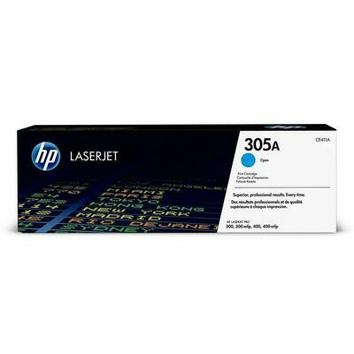 HP 305A Cyan LaserJet Toner Cartridge (CE411A)