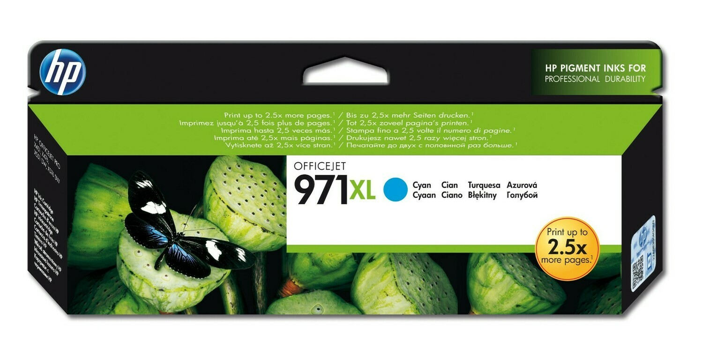 HP 971XL High Yield Cyan Original Ink Cartridge (CN626AE)