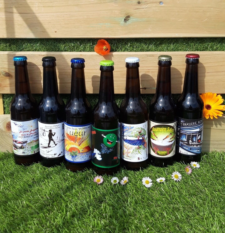 Bières artisanales et locales (en lot de 8)