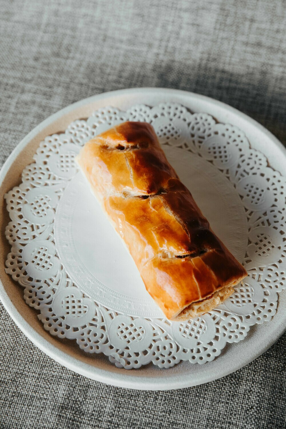 Good old Sausage Roll, seasoned mince meat, spices - Single serve