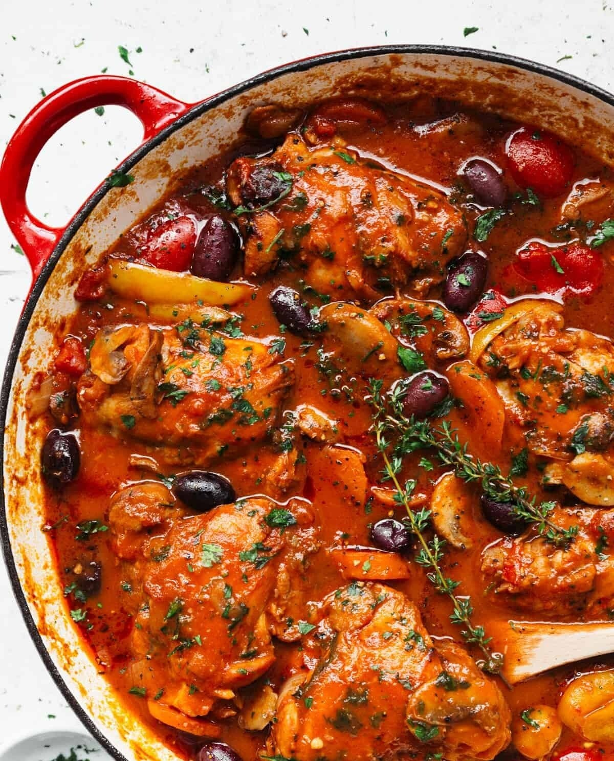 Chicken cacciatore with Italian Fried Potatoes