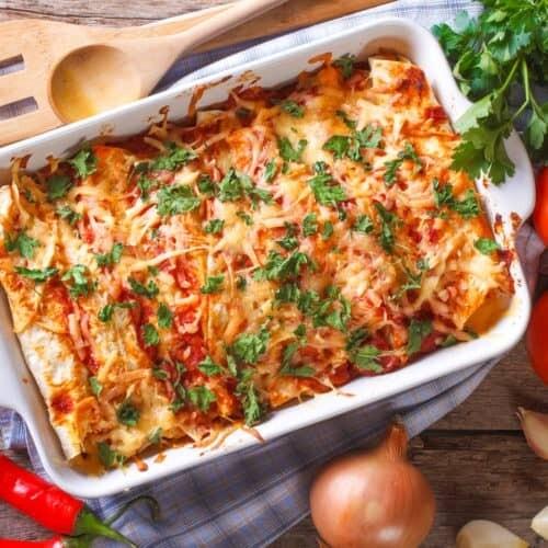 Vegetarian enchilada's - Medium tray