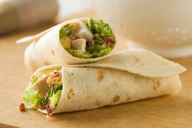 Crispy Chicken Caesar Wrap